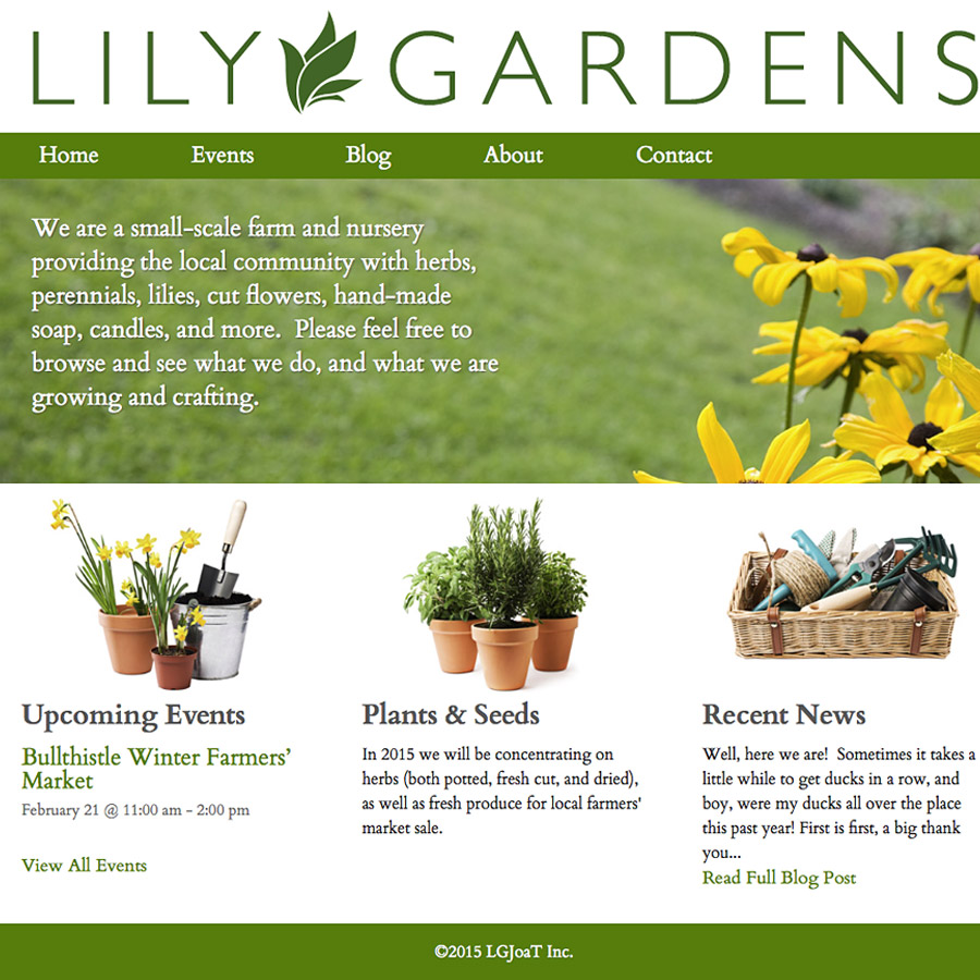 Featured Image - Lily Gardens site